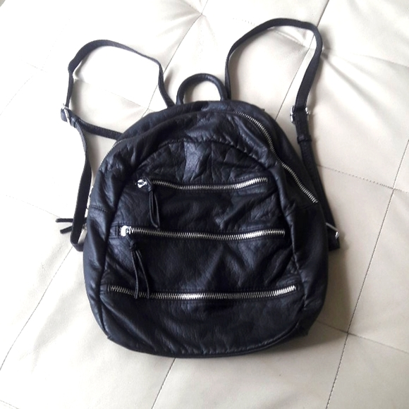 Backpack with front zippers, 10 x 14 x 6